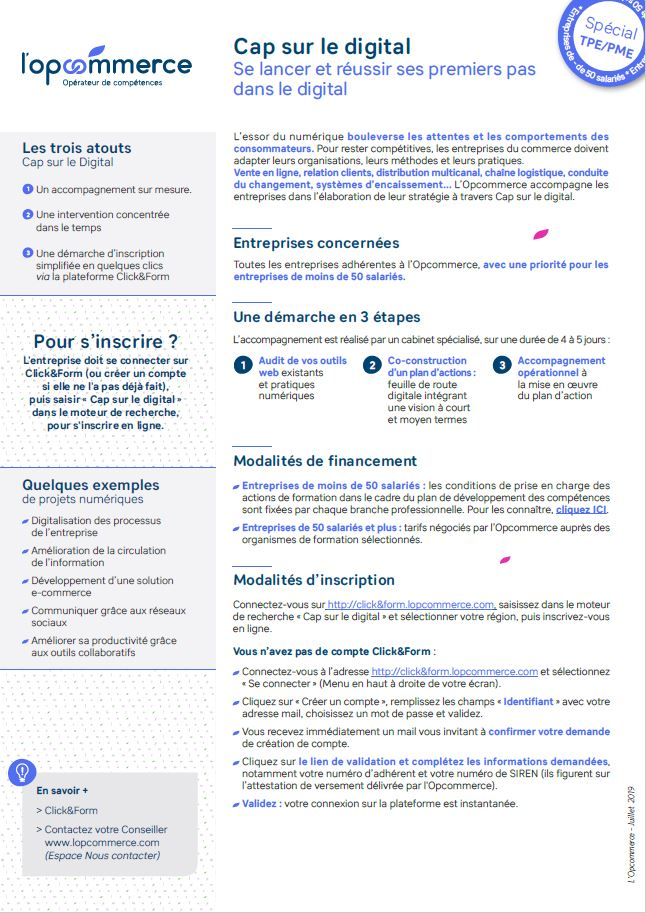 Flyer Cap sur le digital